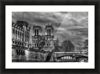 Notre Dame Picture Frame print