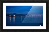 Shooting Star over Vancouver Picture Frame print