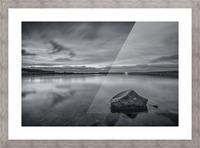 Inside the Harbour - bw Picture Frame print