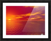 Sunset Over The Water Picture Frame print