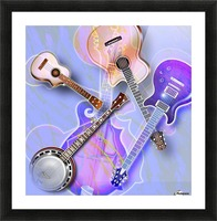 Stringed Instruments Picture Frame print