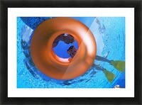 Mother And Daughter Snorkeling Picture Frame print
