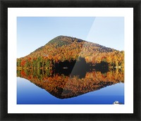 Autumn Colours Reflected In Water, Eastern Townships, Quebec, Canada Picture Frame print