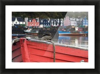 Closeup Of The Bow Of A Boat, Tobermory, Isle Of Mull, Scotland Picture Frame print