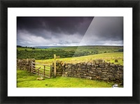 Stone Fence, Yorkshire, England Picture Frame print