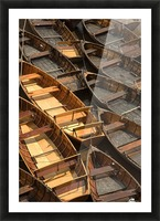 Wooden Boats Picture Frame print