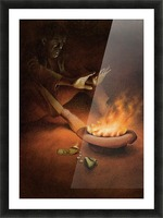 Money on Fire Picture Frame print
