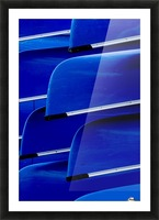 Blue Canoes Picture Frame print