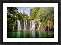 Idyllic Waterfall at Plitvice Lakes Picture Frame print