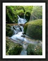Small Waterfall in the German Black Forest Picture Frame print