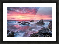 Colorful Sunset at Wild Coast on the Canary Islands Picture Frame print