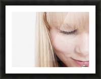 Closeup Of A Woman's Face Picture Frame print