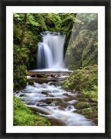 Watefall in the Black Forest in Germany Picture Frame print
