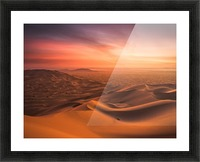 Sunset in the Desert Picture Frame print