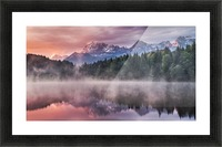 Sunrise at a Lake with Alps in the Background Picture Frame print