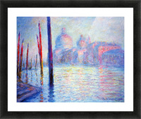 Canal Grand by Monet Picture Frame print