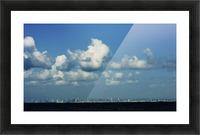 Miami Skyline Picture Frame print