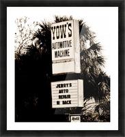 Vintage Sign Impression et Cadre photo
