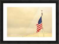 American Flag Picture Frame print