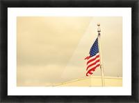 American Flag Impression et Cadre photo