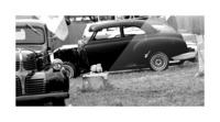 Black and White Vintage Cars Picture Frame print