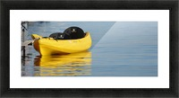 Yellow Kayak Picture Frame print