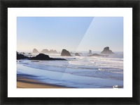 Tide At Indian Beach; Oregon, United States Of America Picture Frame print