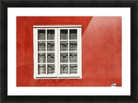 Red Timber House And Window Frame In The Old Town; Porvoo, Finland Picture Frame print