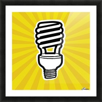 Compact Fluorescent Lightbulb Picture Frame print