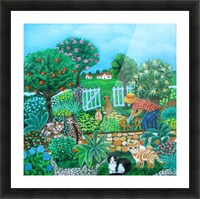 gardening Picture Frame print