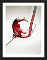 Red wine pouring into a glass Picture Frame print