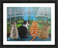 cats in window Picture Frame print