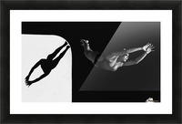 A Woman Diving Into The Unknown; Tarifa, Cadiz, Andalusia, Spain Picture Frame print