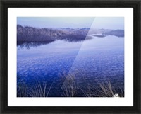 Clouds reflected in the deflection plain; Lakeside, Oregon, United States of America Picture Frame print