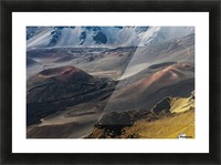 Colourful cinders catch the morning light; Maui, Hawaii, United States of America Picture Frame print