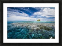 An island that forms part of the marine park, near the Tuvalu mainland; Tuvalu Picture Frame print
