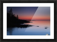 Dawn over the North Shore of Lake Superior, near Duluth; Minnesota, United States of America Picture Frame print