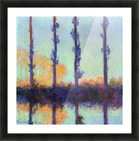 Four poplars by Monet Picture Frame print