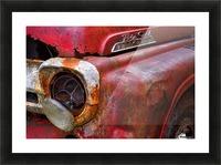 Detail of fire truck that belonged to Kodiak Volunteer Fire Department; Kodiak, Alaska, United States of America Picture Frame print