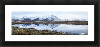 Mount Adney reflected in a pond along the Dempster Highway in the northern Yukon; Yukon, Canada Picture Frame print