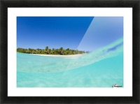 Tropical Island, Blue Sky and Beautiful Ocean Picture Frame print
