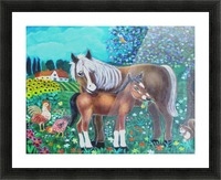 A mare and her foal. Picture Frame print