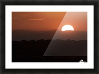 Setting sun overtop of the African landscape; South Africa Picture Frame print