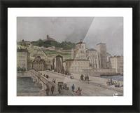 Le pont Tilsitt Picture Frame print