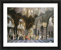 Interior of an oriental mosque Picture Frame print