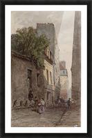 Maison du diacre Francois de Paris rue des Bourguignons Picture Frame print