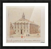 Temple protestant a Charenton detruit en 1686 Picture Frame print