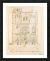 Facade de la cathedrale de Strasbourg Picture Frame print