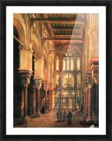 Interieur de la mosquee du Mourestan Picture Frame print