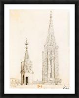 Tour et fleche de la cathedrale de Strasbourg Picture Frame print